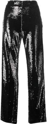 MSGM sequinned wide leg trousers