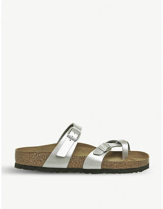 Birkenstock Mayari criss-cross metallic sandals