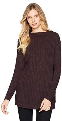 Michael Stars Women's Jasper Poorboy Long Sleeve Mock Neck Top