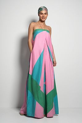 Maui Long Dress in Patchwork