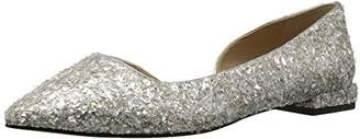 Amazon Brand - The Fix Women's Emma Pointed-Toe D'Orsay Ballet Flat
