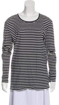 Balmain Striped Jersey Top
