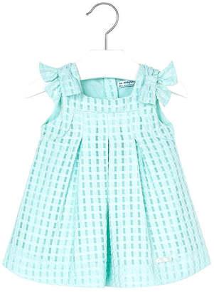 Mayoral Mini Turquoise Basket-Weave-Dress
