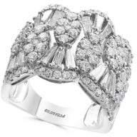 Effy 14K White Gold Diamond Wide Ring