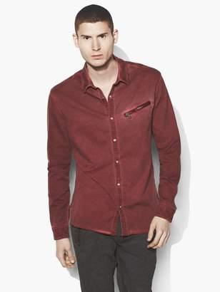 John Varvatos Dyed Snap Button Shirt
