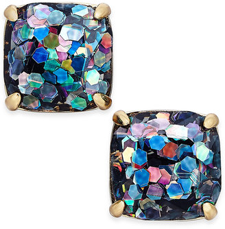 kate spade new york Gold-Tone Glitter Square Stud Earrings $38 thestylecure.com