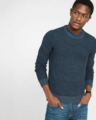 Express Horizontal Stitch Crew Neck Sweater