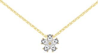 Moissanite 1.00 cttw Flower Pendant w/ Chain, 14K Gold