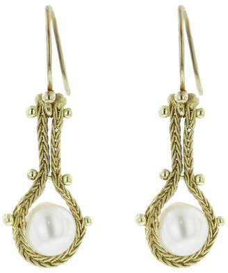 Ten Thousand Things Studded Pearl Chain Earrings