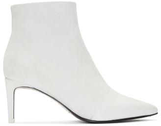 Rag & Bone White Suede Beha Boots