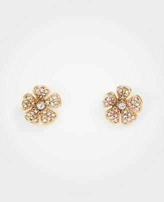 Ann Taylor Pave Clover Stud Earrings