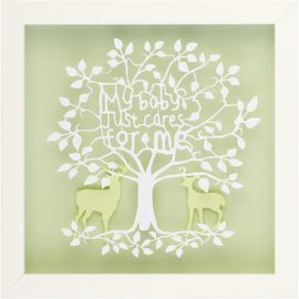 Almond Tree Designs My Baby Just Cares For Me Typography Paper Cut Wall Art