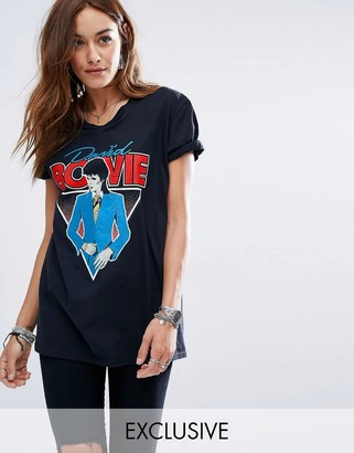 Reclaimed Vintage Bowie T Shirt On Washed Black $46 thestylecure.com