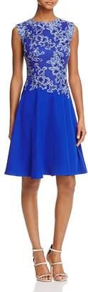 Tadashi Shoji Sleeveless Lace Bodice Dress $368 thestylecure.com