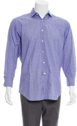 Ralph Lauren Purple Label Plaid Button-Up Shirt