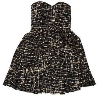 Jay Godfrey Printed Silk Dress