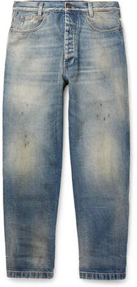 Gucci Distressed Denim Jeans - Men - Light blue