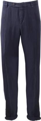 BRUNELLO CUCINELLI Linen Flat Front Trouser $635 thestylecure.com