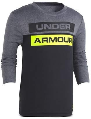 Under Armour Boys' Color-Block Logo Shirt - Little Kid