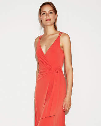 Express Strappy Wrap Maxi Dress