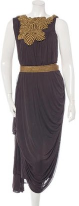 Vera Wang Embroidered Evening Dress $175 thestylecure.com