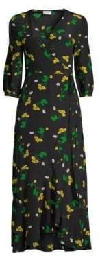 Rixo Noleen Silk Wrap Dress