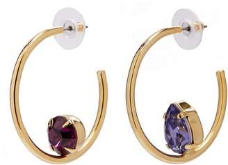 Swarovski Joomi Lim 'Gem Fatale' crystal mismatched hoop earrings