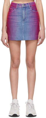Jordache Multicolor Rainbow Denim Miniskirt