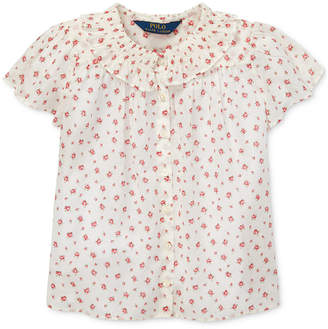 add0a393b Polo Ralph Lauren Toddler Girls Floral Cotton Batiste Top