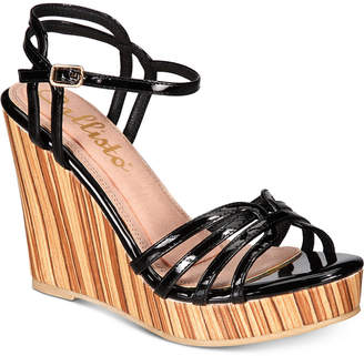 Callisto Brush Strappy Platform Wedge Sandals Women's Shoes
