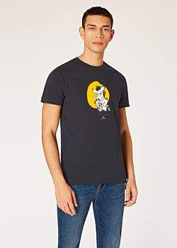 e77acd8e at Paul Smith · Men's Slim-Fit Navy 'Year Of The Boar' Print T-Shirt