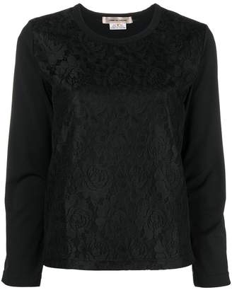 Comme des Garcons lace panel sweater
