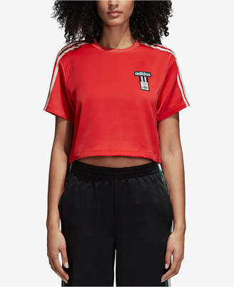 adidas Adibreak Satin Cropped T-Shirt