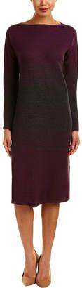 Lafayette 148 New York Ombre Stitch Wool Sweaterdress