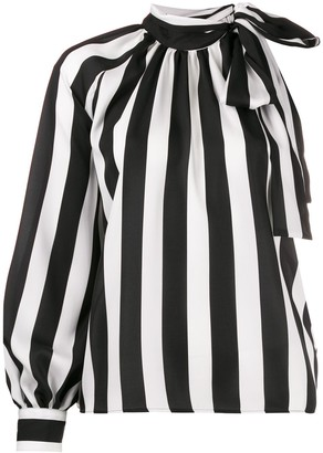 MSGM striped one-sleeve blouse
