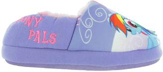 My Little Pony Girls Lilac Faux Fur Lined Slippers Kids UK Infant Sizes 10