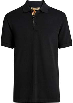 Burberry Contrast Collar Cotton Polo Shirt