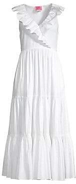 Kate Spade Women's Ruffled Neck Poplin Dress