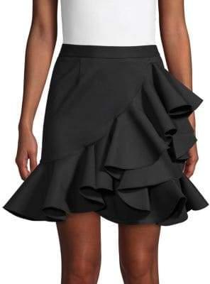 Ronny Kobo Solange Ruffled Skirt