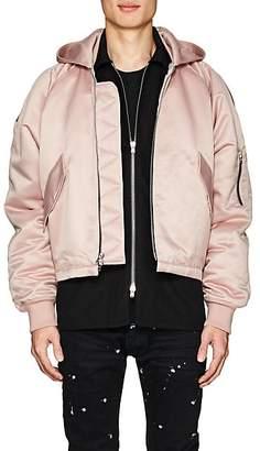 Fear Of God Men's Tech-Satin Hooded Bomber Jacket - Pink