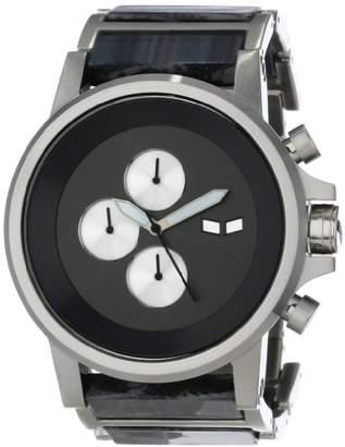 Vestal Men's PLA021 Plexi Acetate Silver Grey Gunmetal Watch