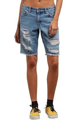 Volcom Super Stoned Denim Bermuda Shorts