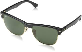 Ray-Ban Men's Clubmaster Oversized Polarized Square Sunglasses