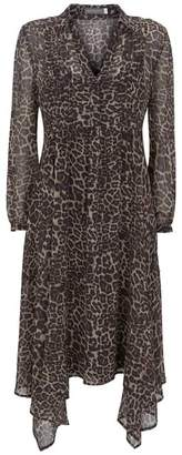 Mint Velvet Tessa Animal Midi Shirt Dress