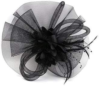 Yiweir Women Veil Hair Accessory Fascinator Headband Wedding Party Derby