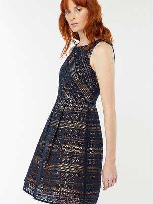 Monsoon Jacey Lace Dress - Navy