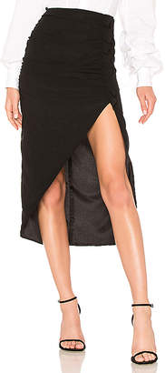 LPA Shirred Skirt W/ High Slit