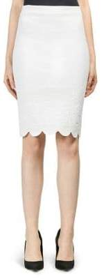 Alexander McQueen Scalloped Trim Pencil Skirt