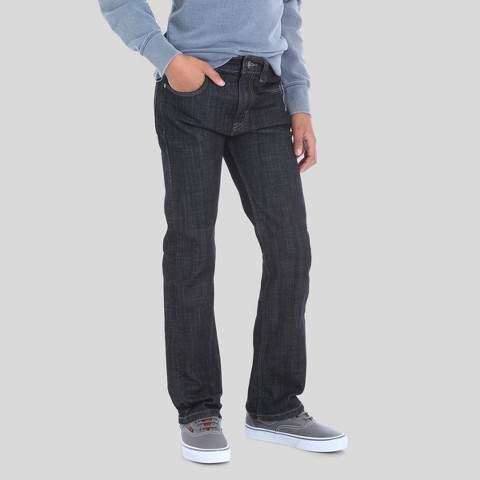 Boys' 5-Pocket Dark Rinse Slim Straight Jeans - Black