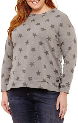 Fred David Long Sleeve Star Pullover with Side Ties - Plus